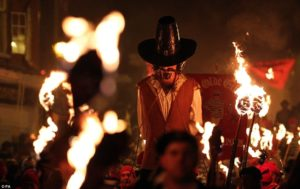 Bonfire Night - Burning an effigy of Guy Fawkes